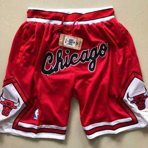 Bulls Chicago Retro Embroidered Shorts
